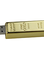 16gb Ssb Flash Drive Bullion Gold USB 2.0 Flash Memory Drive Stick U Disk Pen drive