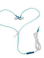 zipper earphone В ухе Проводное Наушники динамический Aluminum Alloy Мобильный телефон наушник С микрофоном Светящийся наушники