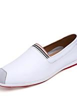 Homme Chaussures Polyuréthane Printemps Automne Confort Mocassins et Chaussons+D6148 Pour Décontracté Blanc Orange Bleu