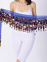 Belly Dance Hip Scarves Women's Performance Chiffon Paillette Hip Scarf