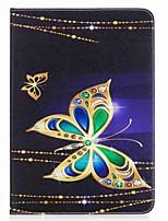 carteira de cartão de borboleta padrão carteira com suporte flip caso de couro magnético pu para Samsung Galaxy Tab a 9.7 t550 t555 9.7