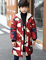 Boys' Color Block Down & Cotton Padded Winter Long Sleeve