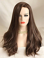 Uniwigs Women Synthetic Wig Lace Front Long Wavy Brown Natural Wigs Costume Wig