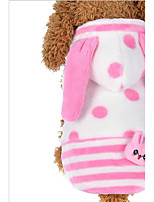 Cat Dog Hoodie Dog Clothes Keep Warm Animal Halloween Christmas Polka Dots Blue Pink Costume For Pets