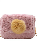 Women Bags Fur Shoulder Bag Feathers / Fur for Event/Party Casual All Seasons Black Blushing Pink Gray Dark Green