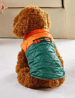 Dog Vest Dog Clothes Casual/Daily Convertible Dress British Coffee Green Costume For Pets