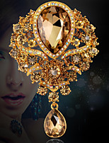 Women's Brooches Luxury Classic Rhinestone Drop Jewelry For Wedding Evening Party