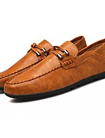 Men's Shoes PU Spring Fall Driving Shoes Loafers & Slip-Ons For Casual Brown Gray Black
