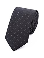 Men's Polyester Neck Tie,Grid Jacquard All Seasons Black
