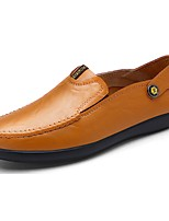 Men's Shoes PU Tulle Spring Fall Comfort Loafers & Slip-Ons For Casual Dark Brown Light Brown Black