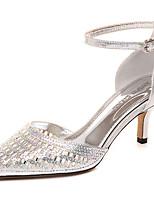Damen Schuhe Glanz Frühling Sommer Gladiator High Heels Stöckelabsatz Strass Für Normal Kleid Gold Schwarz