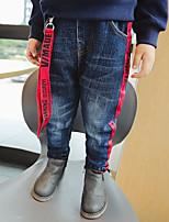 Boys' Patchwork Jeans-Cotton Winter