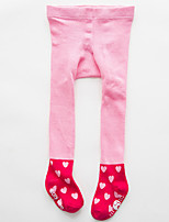 Girls' Color Block Geometic Winter Spring/Fall Hosiery,Cotton Stretchy Socks Blue Green Blushing Pink