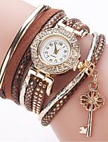 Damen Modeuhr Armband-Uhr Simulierter Diamant Uhr Chinesisch Quartz Imitation Diamant PU Band Bettelarmband Bequem Elegante Weiß Blau Rot