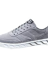 Men's Shoes Rubber Fall Comfort Sneakers Lace-up For Outdoor Almond Red Gray