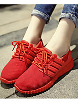Women's Shoes Breathable Mesh Spring Fall Comfort Sneakers For Casual Red Black
