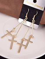Women's Drop Earrings Hoop Earrings Simple Vintage Alloy Cross Jewelry For Casual Club