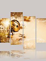 Toile Abstrait,Quatre Panneaux Toile Format Horizontal Imprimé Décoration murale For Décoration d'intérieur