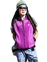 Women's Hiking Vest Outdoor Winter Keep Warm Fleece Vest/Gilet Full Length Visible Zipper Running/Jogging Camping / Hiking Camping