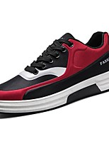 Men's Shoes Breathable Mesh Fall Winter Comfort Sneakers Lace-up For Casual Black/Blue Black/Red Black/White