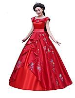 Une Pièce/Robes Princesse Animal Reine Déesse Tenus de Servante Vampire Cosplay Cosplay de Film Rouge Robes Nœud papillon Halloween Noël