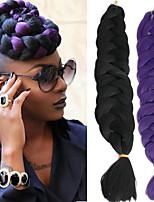 Jumbo Hair Braid Havana Crochet 100% Kanekalon Hair Medium Brown Auburn Yellow Green Blue 41