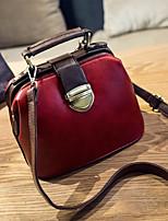 Women Bags PU Shoulder Bag Zipper for Casual All Seasons Black Red Dark Green