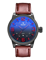 Men's Sport Watch Fashion Watch Japanese Quartz Calendar Water Resistant / Water Proof Genuine Leather Band Casual Brown