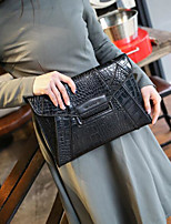 Women Bags All Seasons PU Clutch Zipper for Casual Blue Black