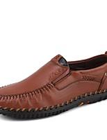 Homme Chaussures Similicuir Cuir Automne Hiver Confort Mocassins et Chaussons+D6148 Combinaison Pour Décontracté Marron Kaki