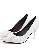 Women's Shoes PU Spring Comfort Heels For Casual Red Black White