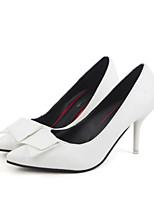 Для женщин Обувь Полиуретан Весна Удобная обувь Обувь на каблуках Назначение Повседневные Белый Черный Красный