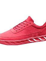 Men's Shoes Rubber Fall Comfort Sneakers Lace-up For Outdoor Almond Red Gray Black