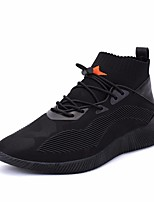 Men's Shoes PU Spring Fall Comfort Sneakers For Casual Black/White Black