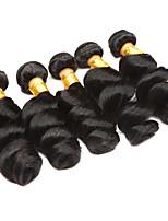 Недорогие -Необработанные Перуанские волосы Свободные волны Наращивание волос 4 предмета Черный