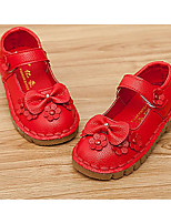 Girls' Shoes PU Spring Fall Comfort Flats For Casual Blushing Pink Red White