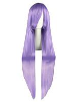 Femme Perruque Synthétique Très long Droit crépu Violet Perruque de Cosplay Perruque Déguisement