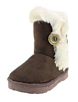 Girls' Shoes Fabric Fall Winter Comfort Snow Boots Fashion Boots Boots Buckle For Casual Outdoor Blushing Pink Coffee Fuchsia Beige