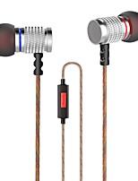 KZ EDR2 Nell'orecchio Con filo Auricolari e cuffie Dinamico Aluminum Alloy Cellulare Auricolare Con isolamento acustico cuffia