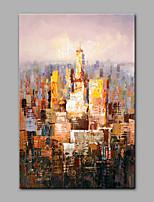 Peint à la main Abstrait Format Vertical,Moderne 1 pièce Toile Peinture à l'huile Hang-peint For Décoration d'intérieur