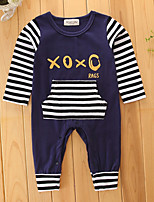 Baby Fashion Stripes One-Pieces,Cotton Spring/Fall Summer Long Pant