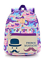 Kids Bags All Seasons Nylon Backpack Zipper for Casual Blue Blushing Pink Purple