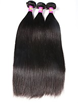 cheap -Brazilian Straight Human Hair Weaves 3pcs 0.3