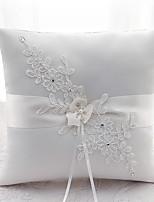Ribbon Rhinestone Flower(s) Satin Silk Ring Pillows Wedding Ceremony