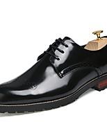 Masculino sapatos Couro Ecológico Primavera Outono Conforto Oxfords Para Casual Dourado Preto Vermelho