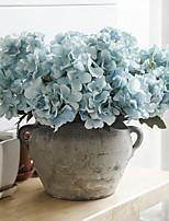 2 Branch Plastic Hydrangeas Tabletop Flower Artificial Flowers