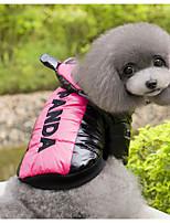 Chien Gilet Vêtements pour Chien Décontracté / Quotidien Dessin-Animé Jaune Fuchsia Costume Pour les animaux domestiques