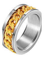 Men's Band Rings Hip-Hop Personalized Stainless Steel Jewelry For Gift Evening Party
