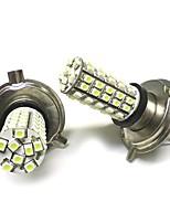 2PCS H4 1210 68SMD LED Light White