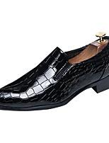 Для мужчин обувь Кожа Весна Осень Формальная обувь Мокасины и Свитер В клетку Назначение Повседневные Черный